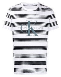 Calvin Klein Jeans Striped Logo Cotton T Shirt