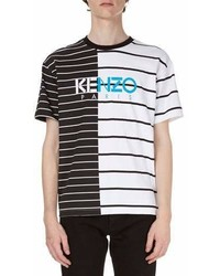 Kenzo Striped Logo Short Sleeve T Shirt