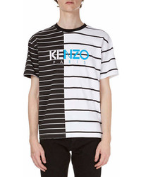 Kenzo Striped Logo Short Sleeve T Shirt