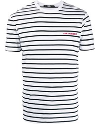 Karl Lagerfeld Striped Logo T Shirt
