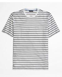 Brooks Brothers Supima Cotton Stripe Tee Shirt