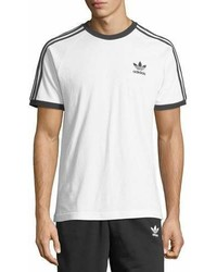 adidas Three Stripes Cotton T Shirt