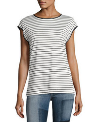 Rag & Bone Toni Striped Cap Sleeve Tee