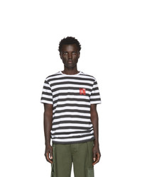 Loewe White And Black William De Morgan Stripe T Shirt