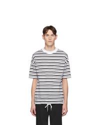 BOSS White Striped Summery Tames T Shirt