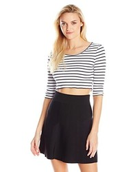 MinkPink Stripe Rib Crop Top