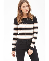Forever 21 Striped Crop Sweater