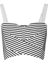 Rebecca Minkoff Cielo Cropped Striped Stretch Knit Top