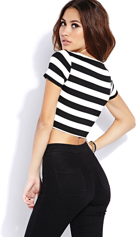 Forever 21 bold stripes crop top where to buy amp how to wear