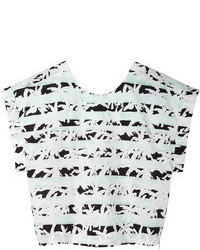 Kenzo Palm Stripes Crop Top