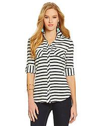 Cremieux Spencer Striped Blouse