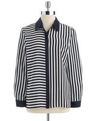 Vince Camuto Striped Button Down Blouse