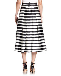 Collection Black And White Striped Midi Skirt Pictures - The ...