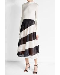 Pleated diagonal stripe midi skirt medium 3649591