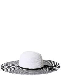 Joe Fresh Stripe Floppy Hat White