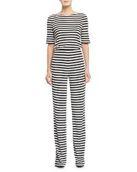 Kendra striped jumpsuit blackwhite medium 390923