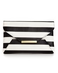 Style&co. Stlyeco Lily Envelope Striped Clutch