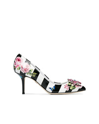 Dolce & Gabbana Floral Stripe 60 Leather Pumps