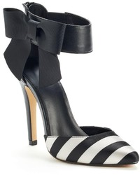 Elle Runway Collection Striped Two Piece Heels