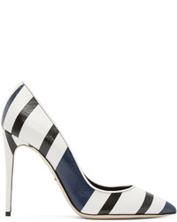 Dolce & Gabbana Tricolor Striped Heels