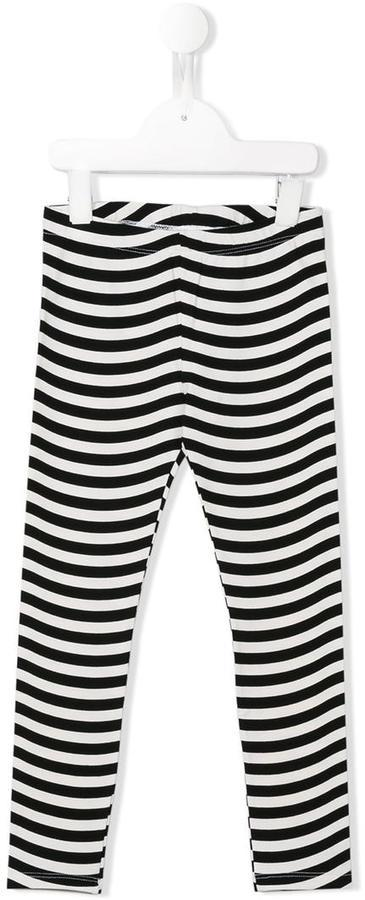 Fendi Kids Striped Leggings