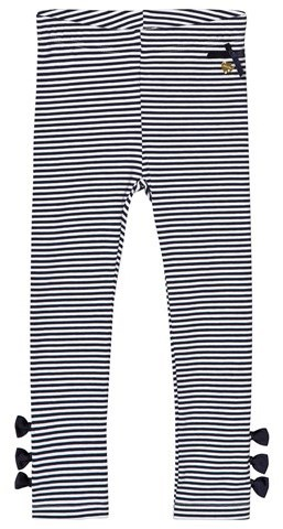 Le Chic Navy And White Stripe Leggings