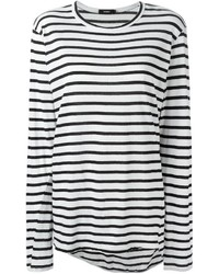 Bassike Striped Long Sleeve T Shirt