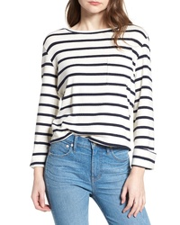 BISHOP AND YOUNG Bishop Young Stripe Lace Up Back Top