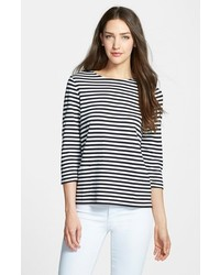 Nordstrom Collection Bianca Stripe Jersey Tee