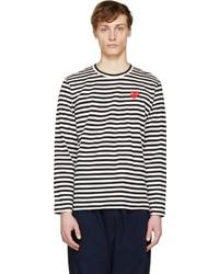 Comme des Garcons Comme Des Garons Play Black White Striped Logo T Shirt