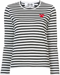 Comme des Garcons Comme Des Garons Play Striped Long Sleeved T Shirt