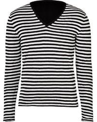 Ermanno Scervino Cotton Blend Striped Sweater