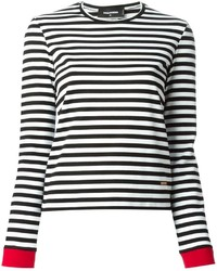 Dsquared2 Contrasting Cuff Long Sleeve T Shirt