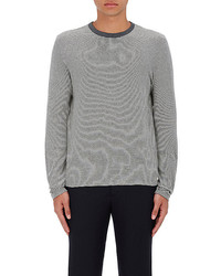 Officine Generale Feed Striped Cotton Long Sleeve T Shirt