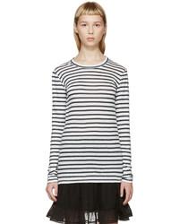 Isabel marant etoile white and blue karon striped t shirt medium 684673