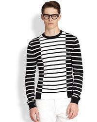 Michael Kors Michl Kors Contrast Stripe Crewneck Sweater