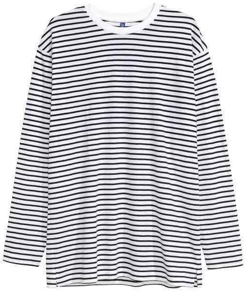 89c89e6e6a39a4 H&M Oversized Long Sleeved T Shirt, $19 | H & M | Lookastic.com