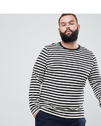 ASOS DESIGN Plus Stripe Long Sleeve T Shirt