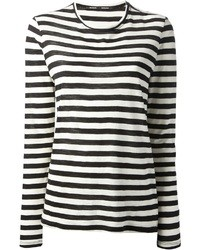 Striped Black And White Long Sleeve Shirt