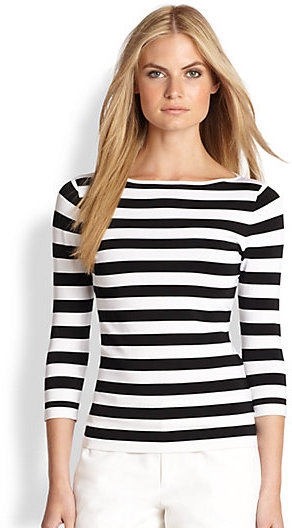 b1cb401836 Ralph Lauren Black Label Stripe Boatneck Top, $375 | Saks Fifth ...