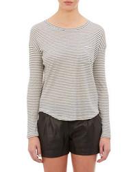 Vince Stripe Long Sleeve T Shirt