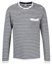 Eleventy Stripe Print T Shirt