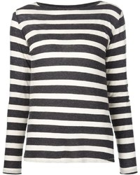 Striped long sleeve t shirt medium 362759