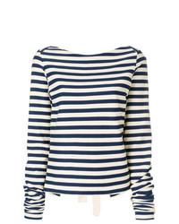 Striped tie back blouse medium 7736499