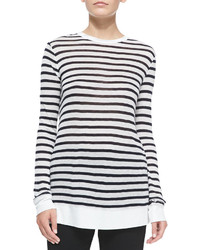 T by long sleeve striped crewneck tee medium 183883