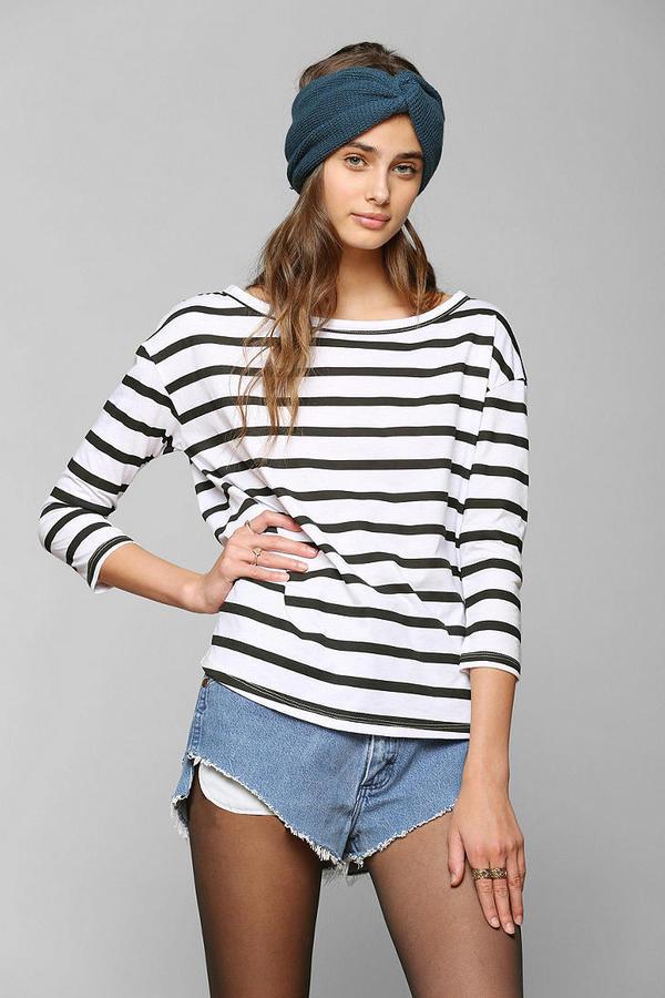27613f1a17 ... Striped Long Sleeve T-shirts Urban Outfitters Mouchette Blue Coast  Breton Stripe Tee