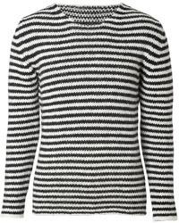 Ermanno Scervino Wool Alpaca Blend Striped Pullover