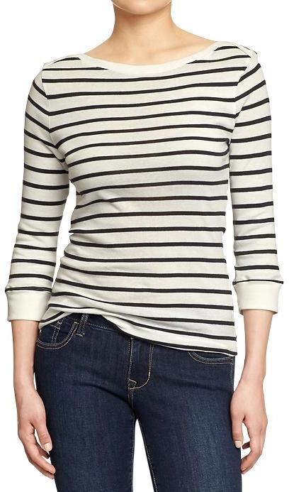 Old Navy 34 Sleeve Boat Neck Tops