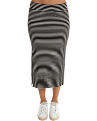 Atm striped rib skirt medium 790900
