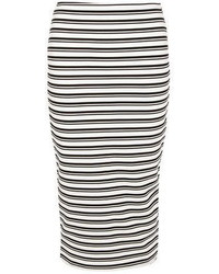 Dorothy Perkins Petite Black And White Skirt